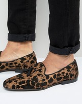 Asos Loafers In Leopard Print