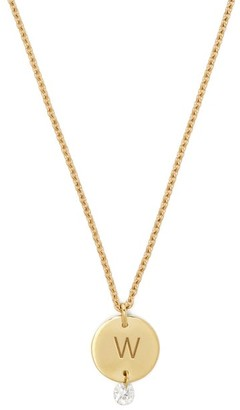 Raphaele Canot Set Free 18kt Gold & Diamond W-charm Necklace - Gold