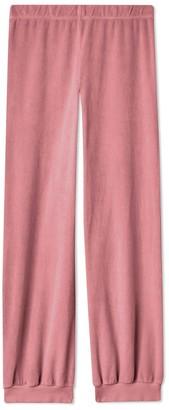 SUZIE KONDI High-Waisted Harem Velour Pants
