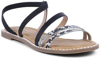 Report Strappy Elastic Sandal