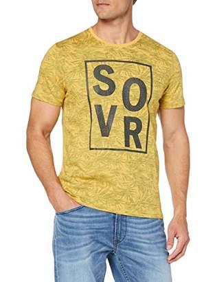S'Oliver Men's 13.904.32.6477 T-Shirt, (Yellow Friend A), Large