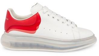 Alexander McQueen Men's Transparent Sole Oversized Sneakers