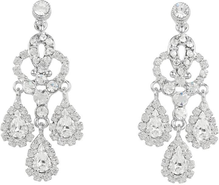 Nina Brooklyn Delicate Teardrop Chandelier Earrings (Antique Silver) - Jewelry