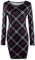 HowFitU Womens Plaid Vintage Wear to Work Business Party Bodycon One-piece Dress