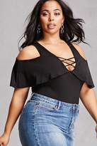Forever 21 FOREVER 21+ Plus Size Open-Shoulder Bodysuit