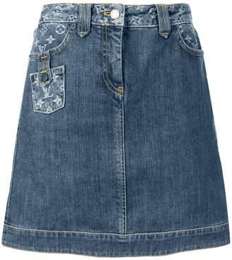 Louis Vuitton Pre Owned jacquard monogram denim skirt