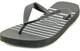 Havaianas H. Stripes Exp Women Open Toe Synthetic Black Flip Flop Sandal.