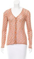 M Missoni Knit Button-Up Top