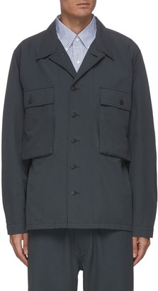 Nanamica Double patch pocket nylon blend utility jacket