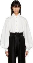 Lemaire White Large Sleeve Shirt