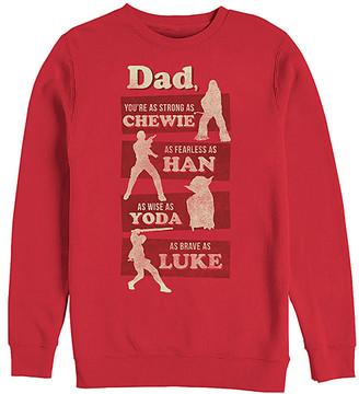 Fifth Sun Men's Sweatshirts and Hoodies RED - Star Wars Red 'Dad' Sweatshirt - Men