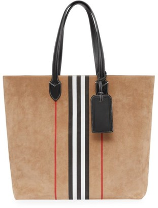 Burberry Kane Suede Tote