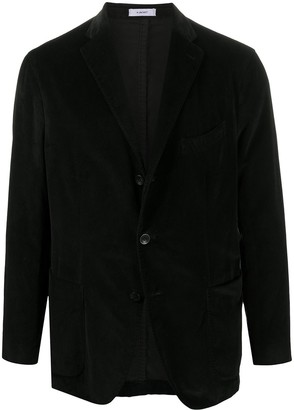 Boglioli Velvet Single-Breasted Blazer