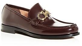 Salvatore Ferragamo Men's Rolo Leather Moc-Toe Loafers