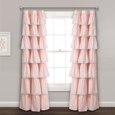 Lush Decor Lace Ruffle Window Curtain Panel