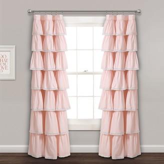 Lush Decor Lace Ruffle Window Curtain Panel