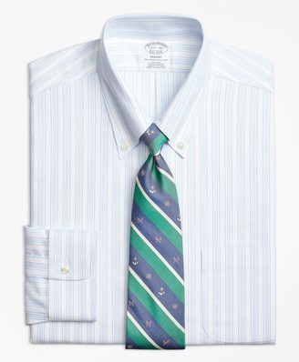 Brooks Brothers BrooksCool Regent Fitted Dress Shirt, Non-Iron Music Stripe