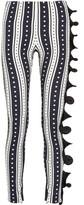 Ungaro Ruffled printed stretch-crepe skinny pants