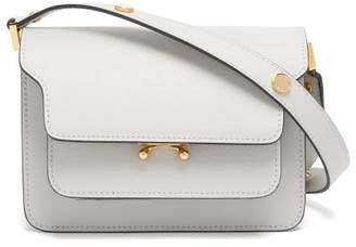 Marni Trunk Mini Saffiano-leather Cross-body Bag - Womens - Light Grey