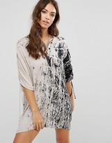 Religion Printed Natural Caftan Dress