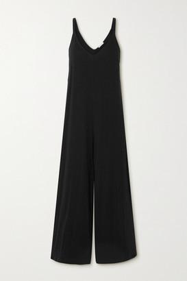 Eberjey Charlie Pima Cotton-jersey Jumpsuit - Black
