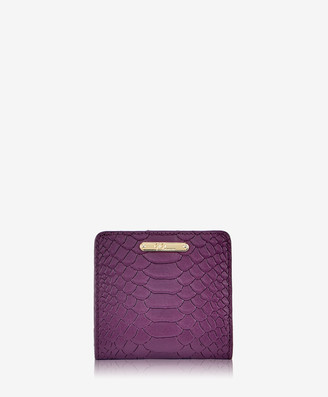 GiGi New York Mini Foldover Wallet, Acai Embossed Python