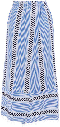 Lemlem Wrap-effect Cotton-blend Jacquard Midi Skirt