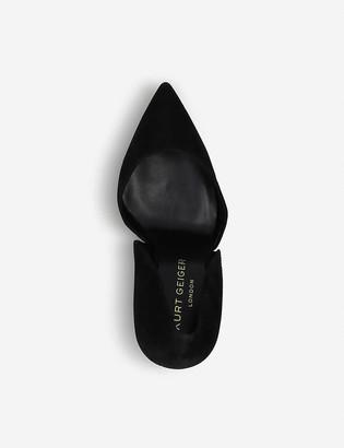 Kurt Geiger Bond satin court shoes