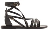 Ancient Greek Sandals Satira Wrap-around Leather Sandals - Womens - Black