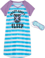 Total Girl Girls Short Sleeve Nightgown-Big Kid