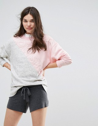 Hollister Color Block Logo Sweatshirt