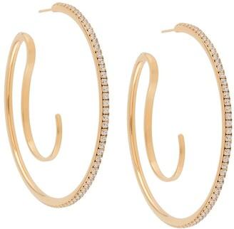 Panconesi Upside Down hoop earrings