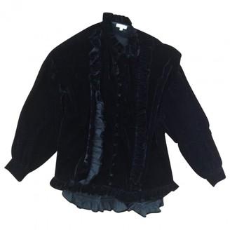Manoush Black Velvet Top for Women