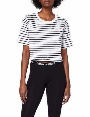 Urban Classics Women's Ladies Short Striped Oversized Tee T-Shirt