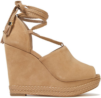 MICHAEL Michael Kors Suede Platform Wedge Sandals
