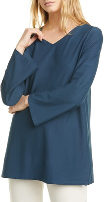 Eileen Fisher V-Neck Slit Tunic