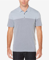 Perry Ellis Men's Travel Luxe Two-Toned Jacquard Polo