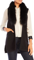 Qi Vest with Real Fur