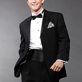 JCPenney Stafford Essentials Wool Tuxedo Jacket-Portly