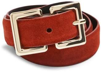 Topshop Medium Rectangular Buckle Logo Belt