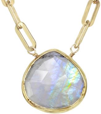 Rachel Reinhardt 14K Over Silver Moonstone Princess Collar Necklace