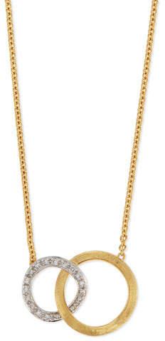 Marco Bicego Jaipur 18K Pave Diamond Link Necklace