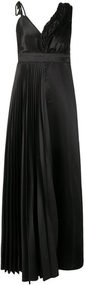 Vetements Asymmetric Satin Maxi Dress
