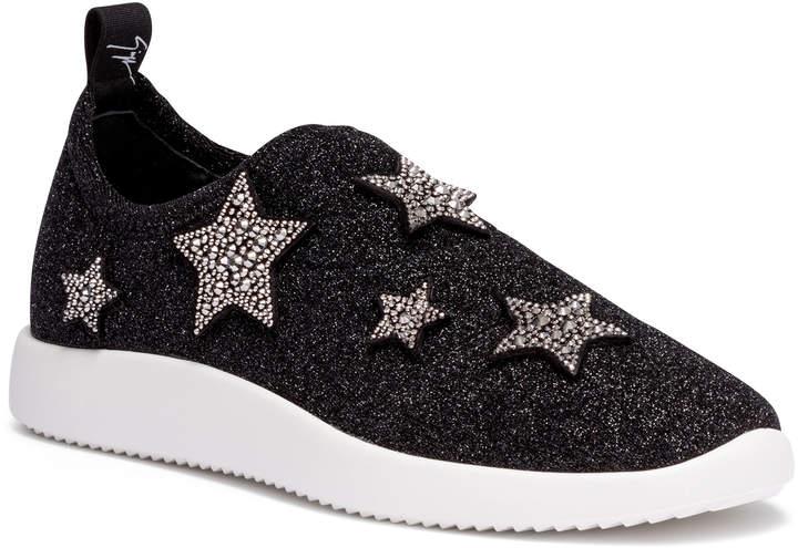 Giuseppe Zanotti Alena Star black glitter sneakers