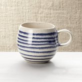 Crate & Barrel Lina Blue Stripe Coffee Mug