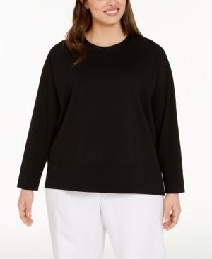 Eileen Fisher Plus Size Crewneck Top
