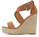 Charlotte Russe Braided Espadrille Wedge Sandals