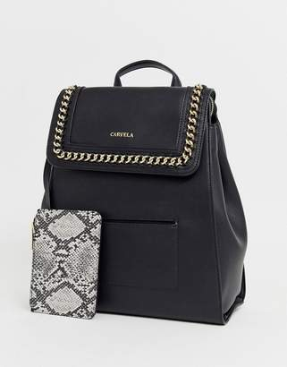 Carvela Extra chain backpack in black