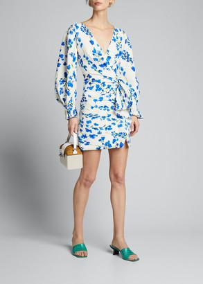 Carolina Herrera Cotton-Silk Side-Draped Dress