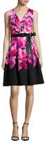 Chetta B Floral Fit-and-Flare Dress
